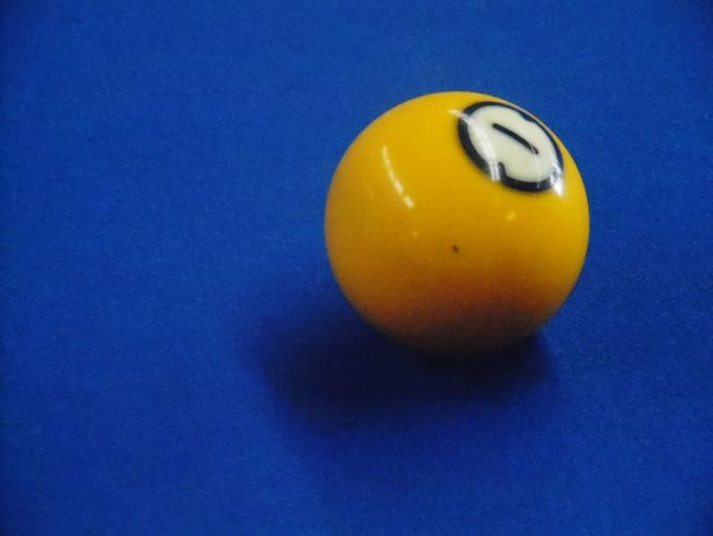 1 ball at NFTA parateansit's lost & found. Ball Pool Balls Minimalist Yellow Blue
