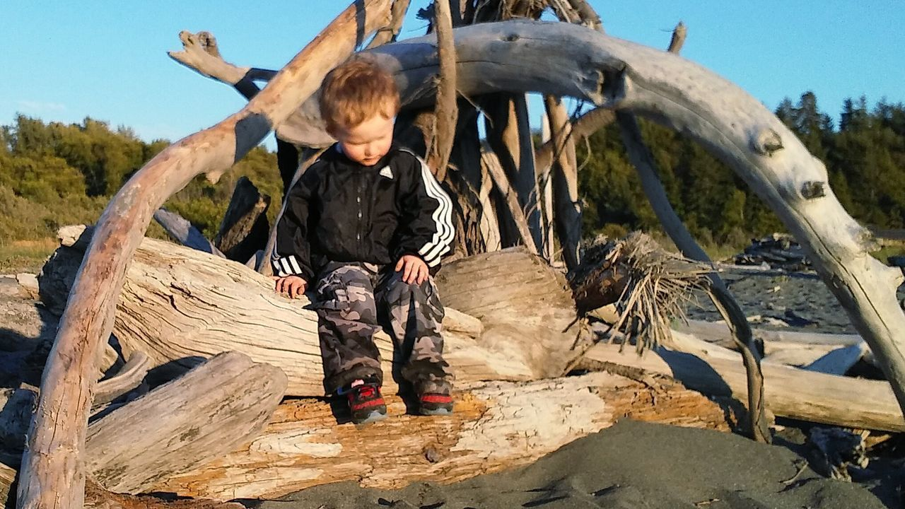 My nephew Bentley playing on a driftwood shelter at the Beach. Nature Sky Outdoors Sea Check This Out Driftwood Golden Hour Children Photography Boy At The Beach Child Playing Tot Toddlerphotography Vacations Young Adult Dusk Beauty In Nature Awe Water Sun Sunset Travel Destinations Scenics Tranquil Scene Tourism
