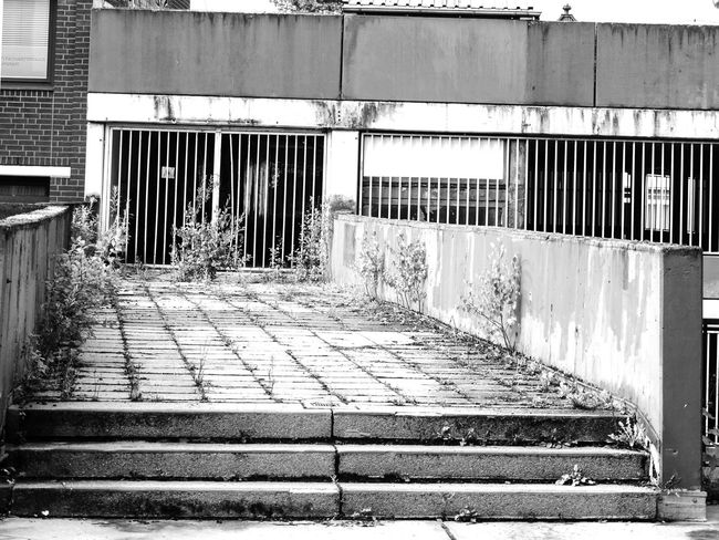 Architecture Building Built Structure Day Decay Diminishing Perspective Empty Forgotten Ground Forgotten Places  Narrow No People Outdoors Parking Garage Shopping Center Stade De France Stairs Steps The Way Forward Ugly Vanishing Point Walkway in Stade Absence The Photojournalist - 2016 EyeEm Awards Stade, Germany Deterioration
