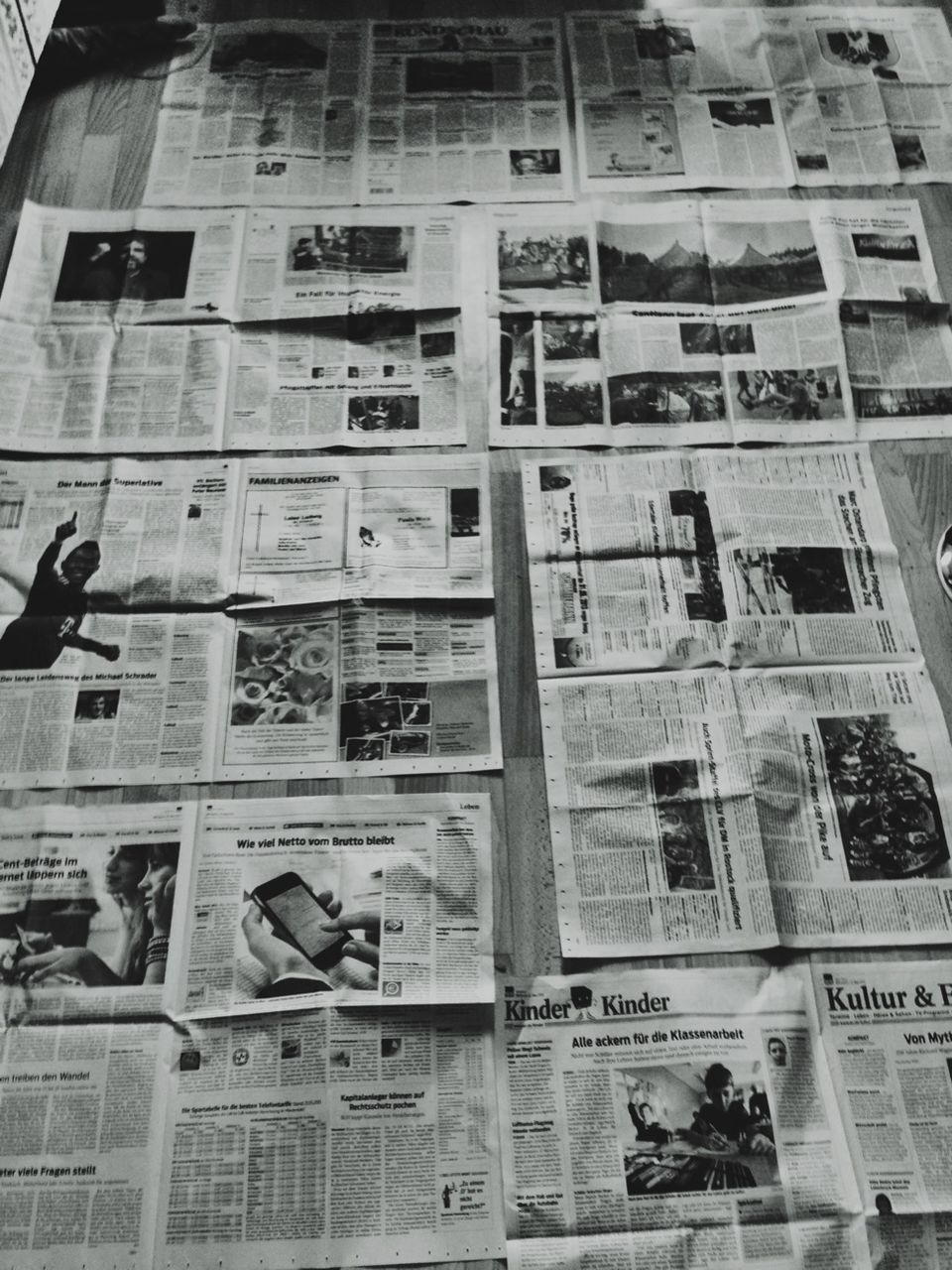 newspaper, indoors, the media, full frame, backgrounds, no people, day