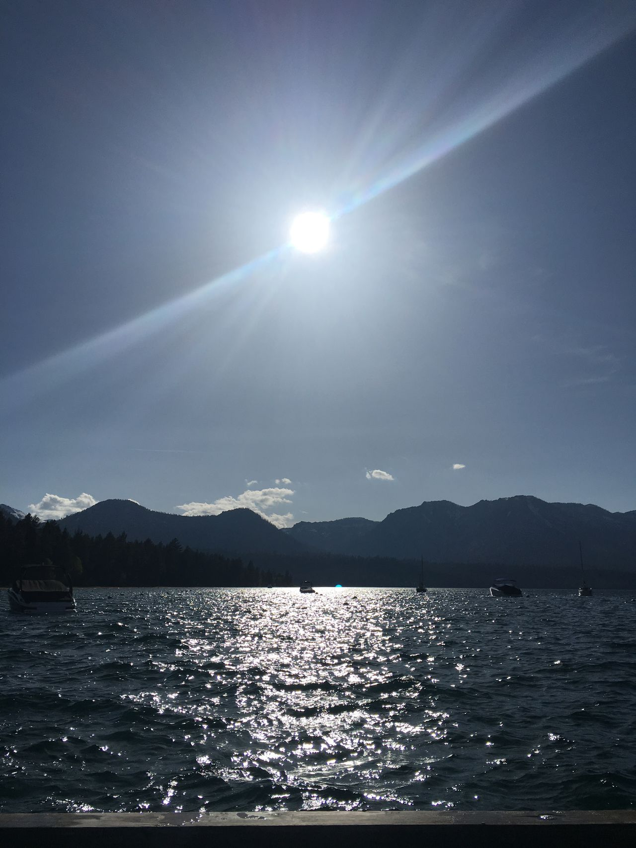 Astrology Sign Astronomy Beauty In Nature Moon Mountain Nature No People Outdoors Refraction Scenics Sea Sky Sun Sunbeam Sunlight Tranquil Scene Tranquility Water