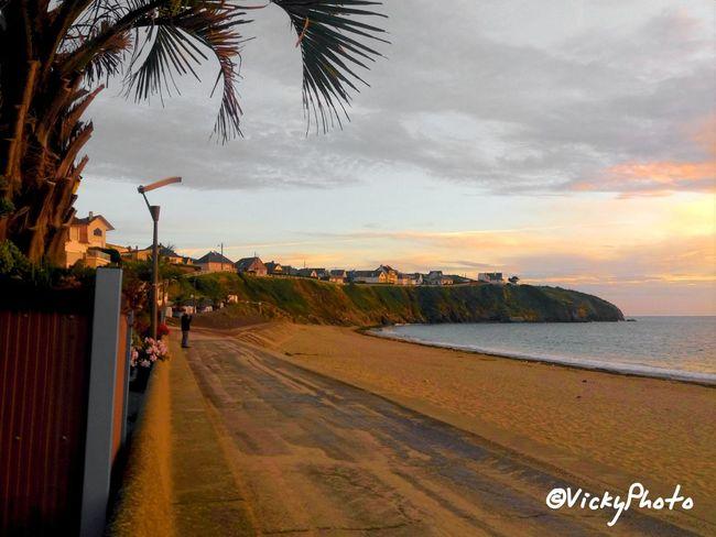 Landscape Normandy Basse Normandie La Manche Coucher De Soleil Playa Plage 🌴 Photography