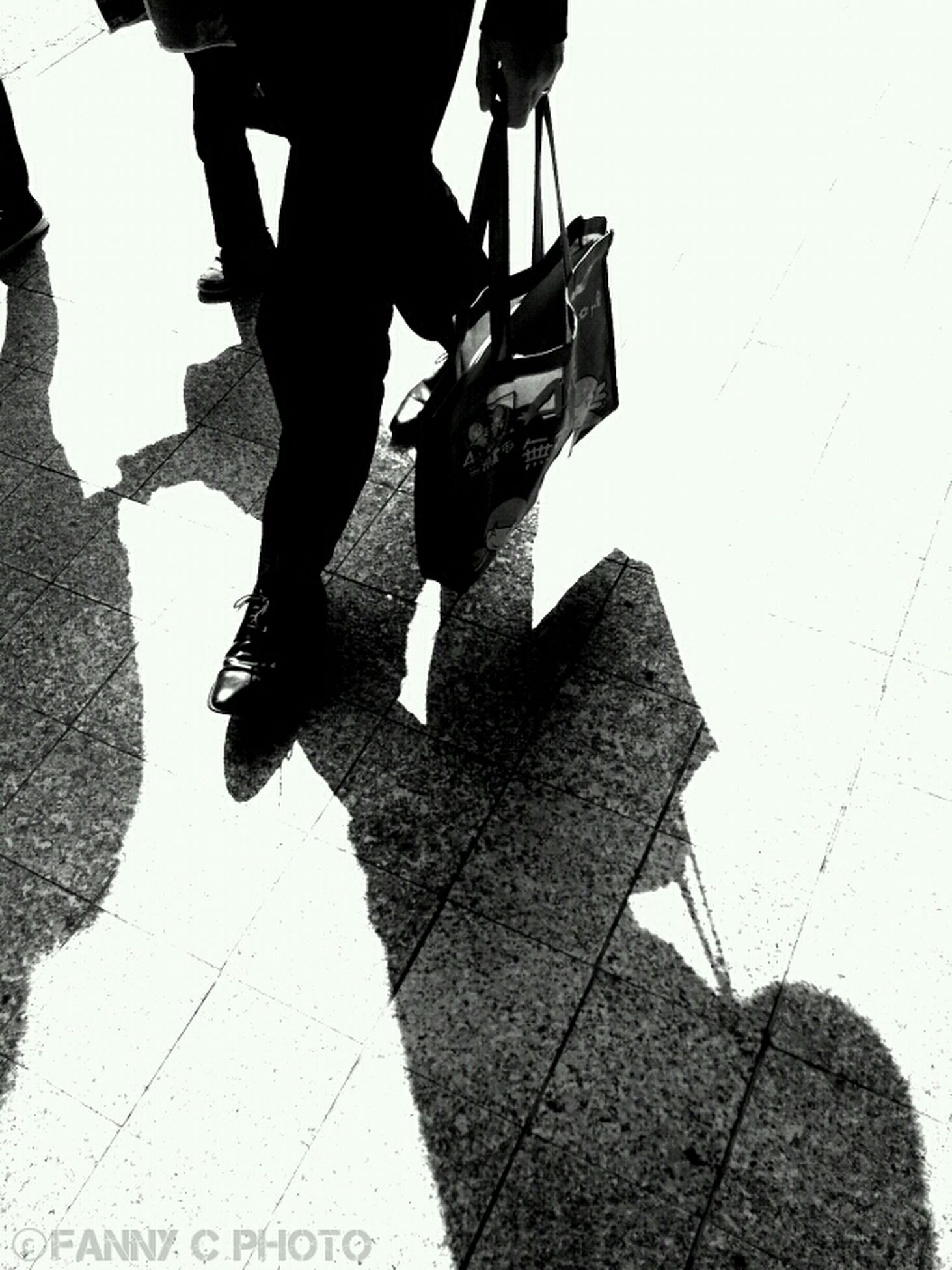 Walking Blackandwhite Shadow