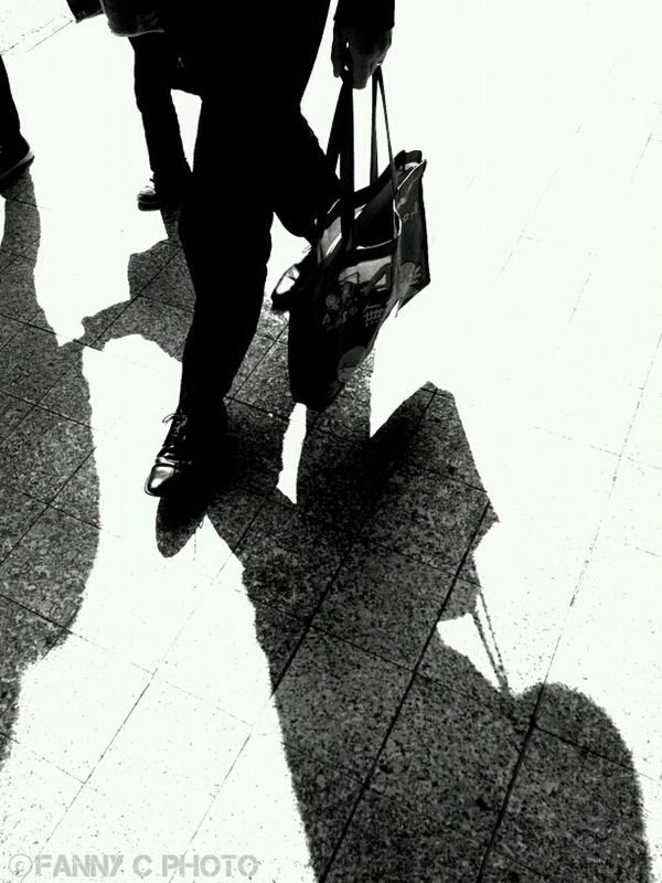 walking blackandwhite shadow by \FANNY-DRAGON/