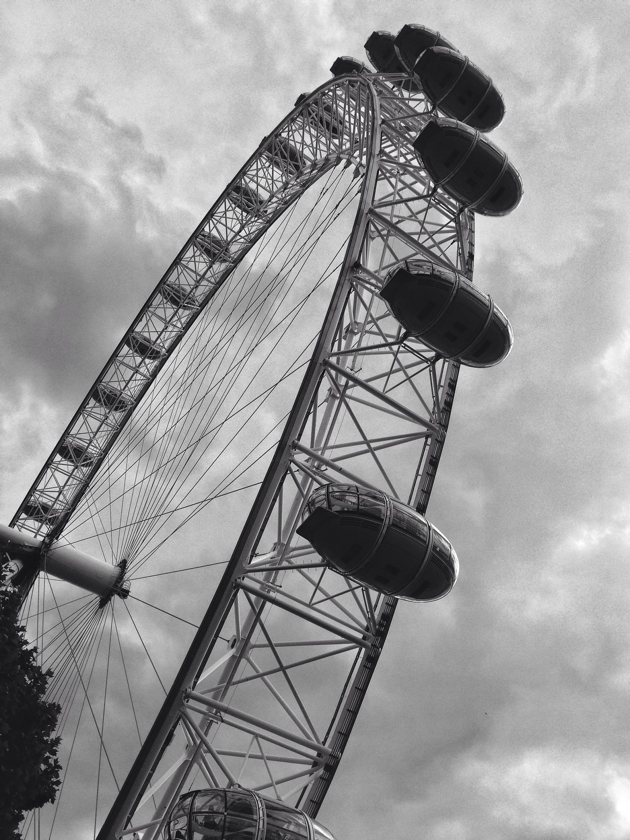 The Eye of London Amusement Park Big Wheel Black And White Photography City Europe Eye Of London Ferris Wheel London Low Angle View No People