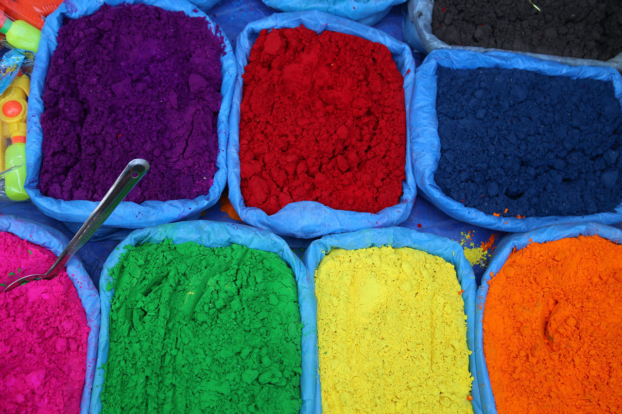 Colors Colours Holi Nepal Knallbunt Colour Powder Grains Of Sand Nepali