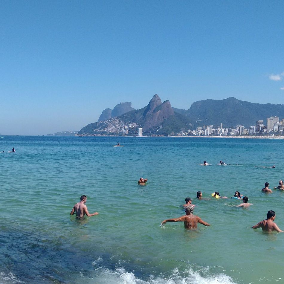 Beautiful stock photos of brazil, sea, water, blue, large group of people