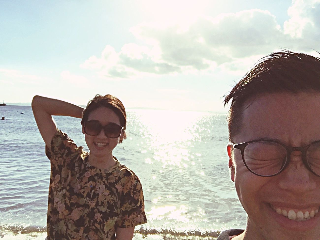 Seaside Sunlight Sea Selfies at Chiba Japan Scene