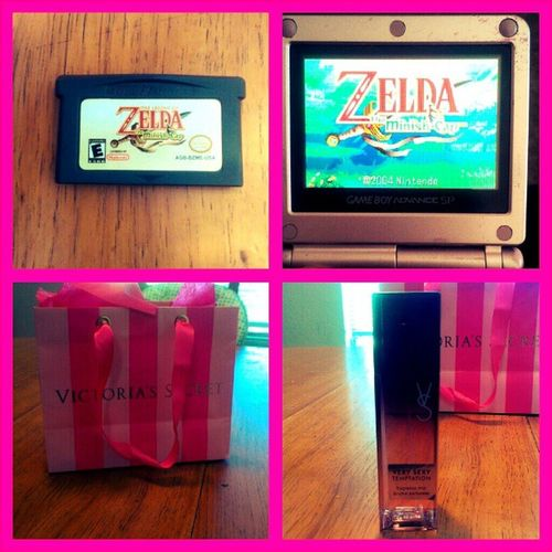 #retailtherapy! Out of everything I got, these two are the best. I went to #victoriassecret and got the #verysexytemptation #brumrparfumee and I went to #bresoftware and I got #thelegendofzelda #Minishcap for my #gameboyadvancesp. Yay! Nintendolife Gameboyadvance Pink Wtfgo Nintendo Gameboyadvancesp Girly Materialistic Gameboy Verysexytemptation Vs Brumrparfumee Victoriassecret Fragrancemist Igersnintendo Ninstagram LegendOfZelda  Materialgirl Bodymist Pinkgameboy Thelegendofzelda Brumepourlecorps Retailtherapy Hylian Wtfgamersonly Brumeparfumee Minishcap Bresoftware Hyrule Frangrance