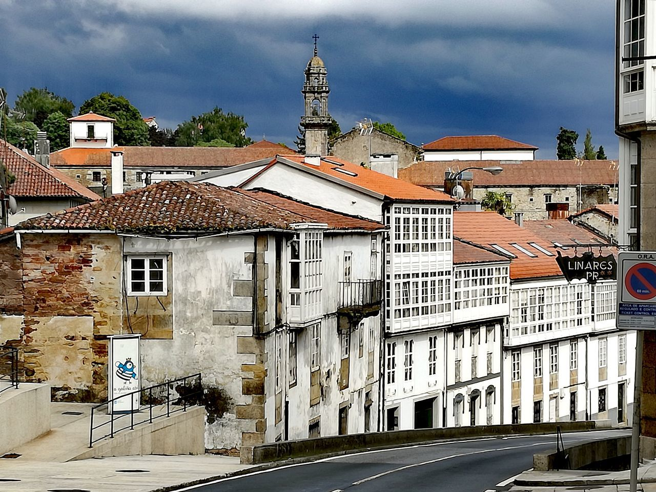 Architecture Building Exterior Sky Cloud - Sky Outdoors Day Built Structure No People Santiago De Compostela Galicia, Spain Spain Is Beautiful Rainy Day Walk Rainy Weather Rain Clouds History Religion Catholic Church