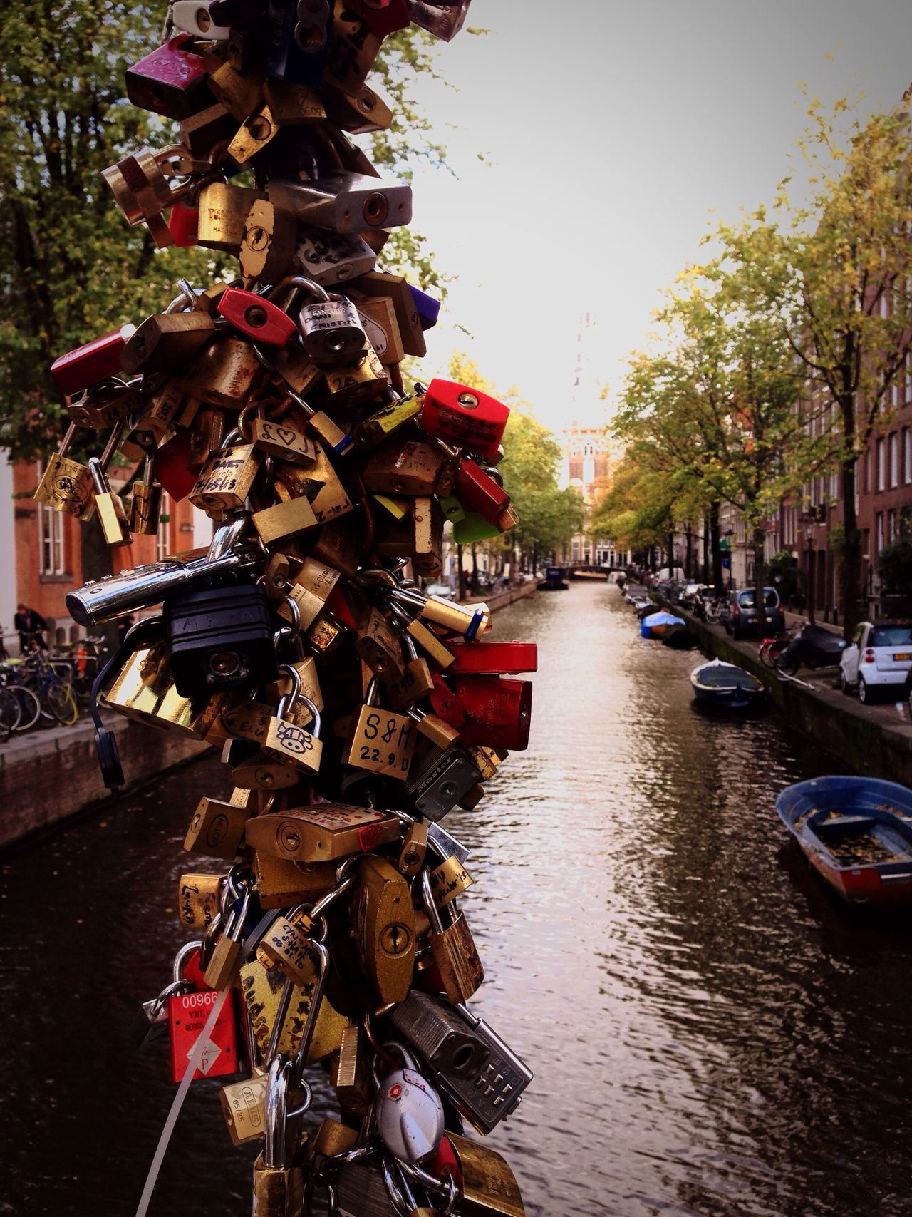 Love Locks Bridge Amsterdam