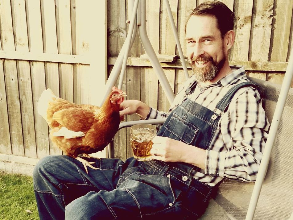 Chilling With A Chicken Chicken Cider Garden Me This Is Me