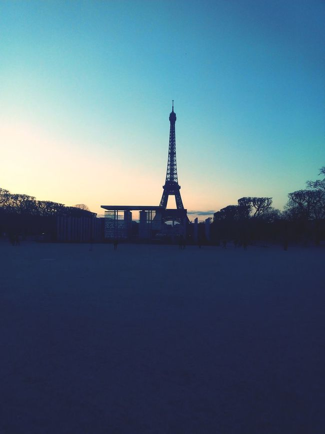Sunset Land Ecole Militaire Champ De Mars Tour Eiffel Coucher De Soleil