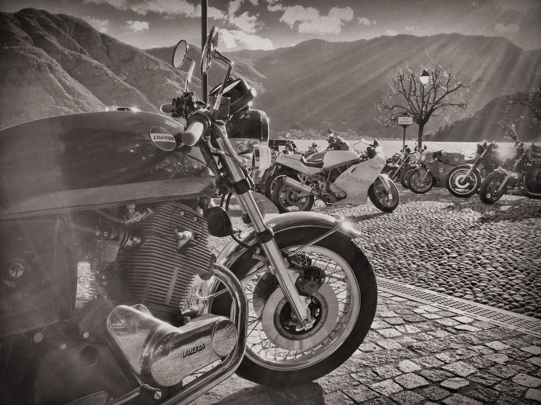 Vintage Style Black And White Photography Milano Cafe Racer MCR Cafe Racer Fortheloveofblackandwhite Enjoying Life Como Lake Motorcyclepeople Laverda