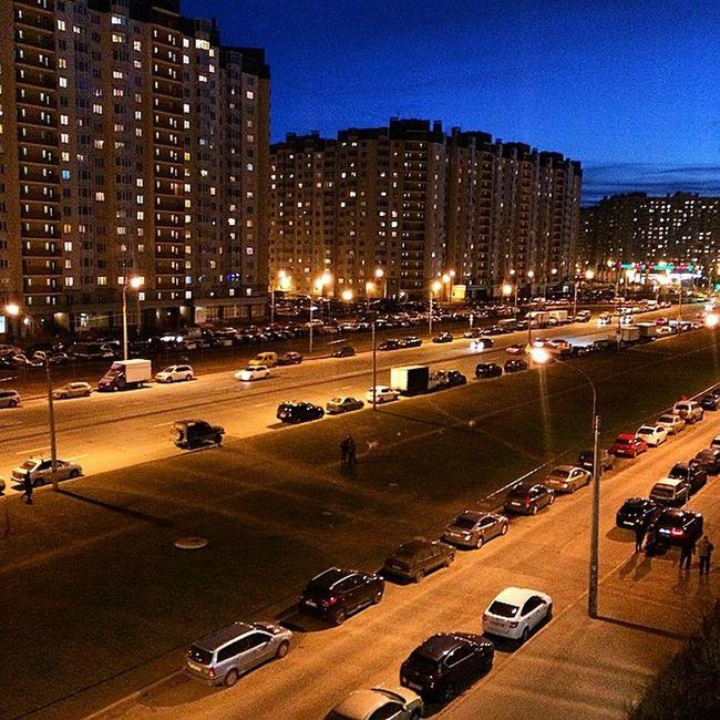 Не перестану выкладывать этот вид из окна.) Питер весна вечернийгород видизокна огнигорода Night City Spring