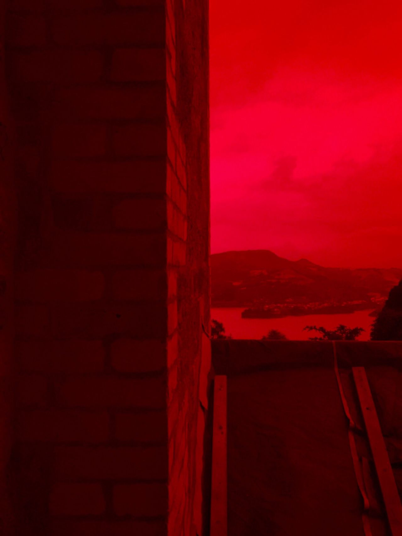 Red Glass  Red Haze Redrum Dunedin New Zealand Blood Red
