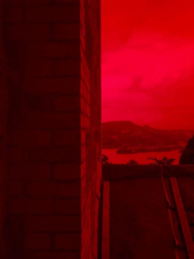 Red Glass  Red Haze Redrum Dunedin New Zealand Blood Red