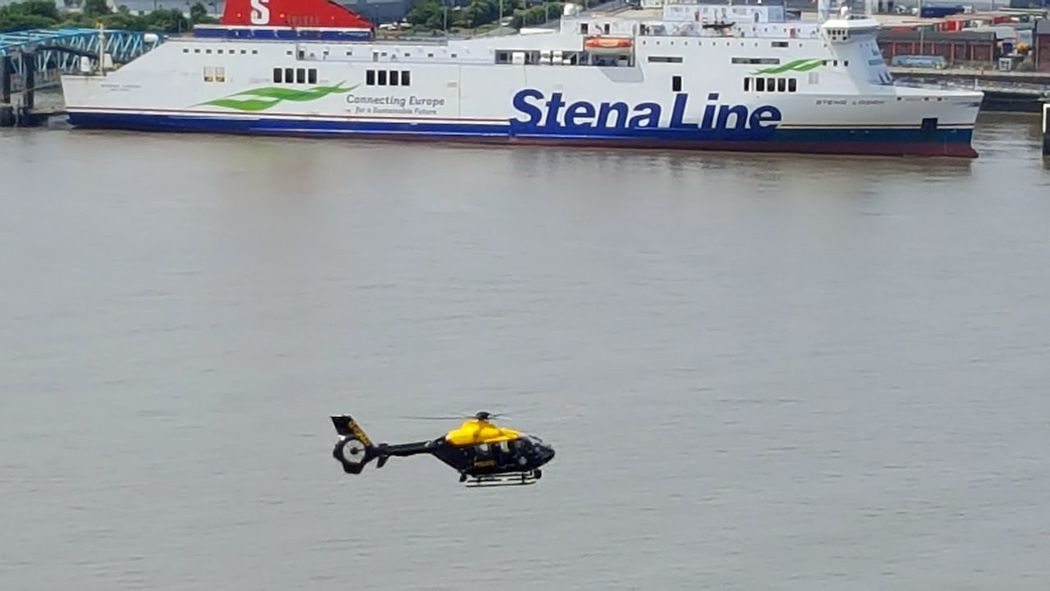 Water Nautical Vessel Outdoors Liverpool Helicopter Police Helicopter Search And Rescue Missing Person Mersey Merseyside River Mersey Liverpool Waterfront
