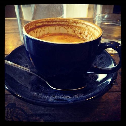 Half-drunk flat white @thepaddlecafe - it's ace in here! Coffee Highcliffe Christchurch