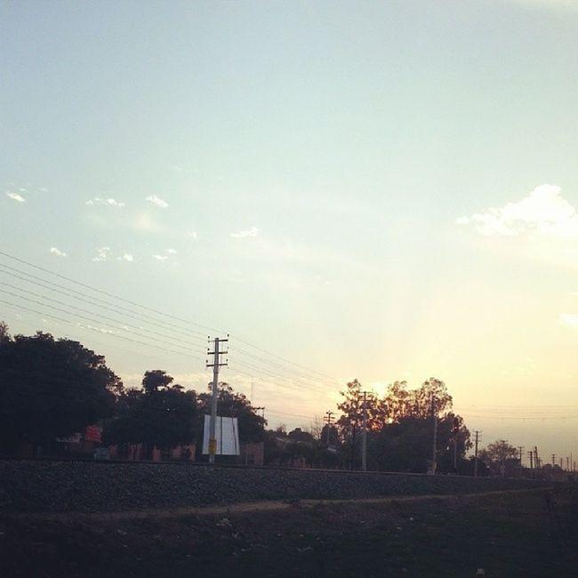 Evening Sunset Patiala India instaclick instagood instacool tracks picoftheday photooftheday samsung galaxynote2 like followme