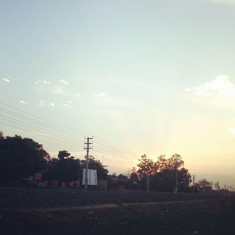 Evening Sunset Patiala India instaclick instagood instacool tracks picoftheday photooftheday samsung galaxynote2 like followme