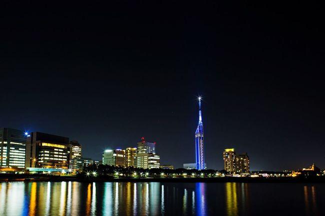Nightphotography Night View Light&dark Fukuoka-shi Fukuoka,Japan Fukuoka Tower