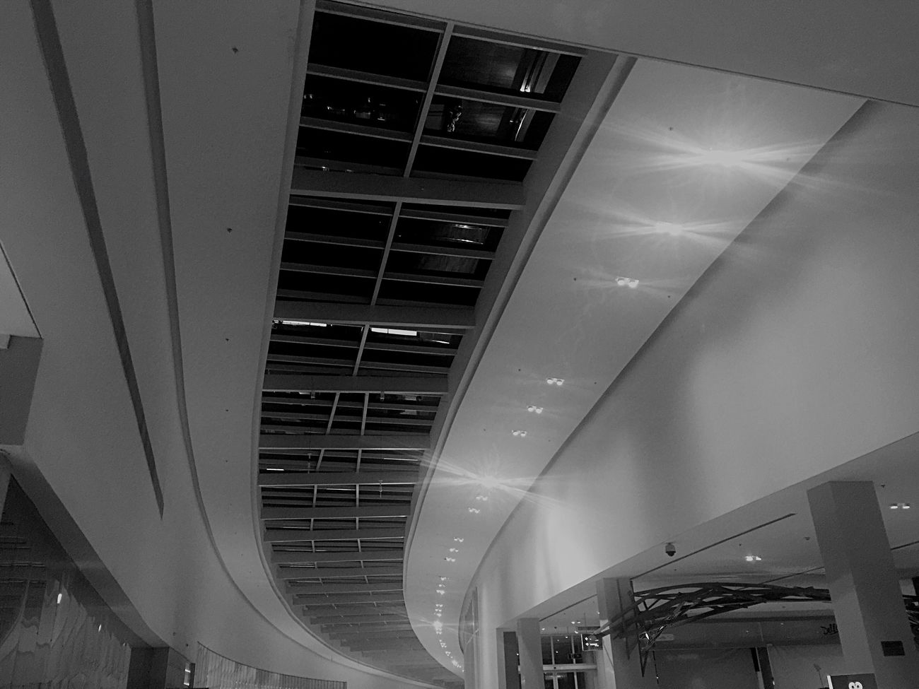 Architecture Built Structure Low Angle View Indoors  Modern IPhoneography Black & White Blackandwhite Blackandwhite Photography
