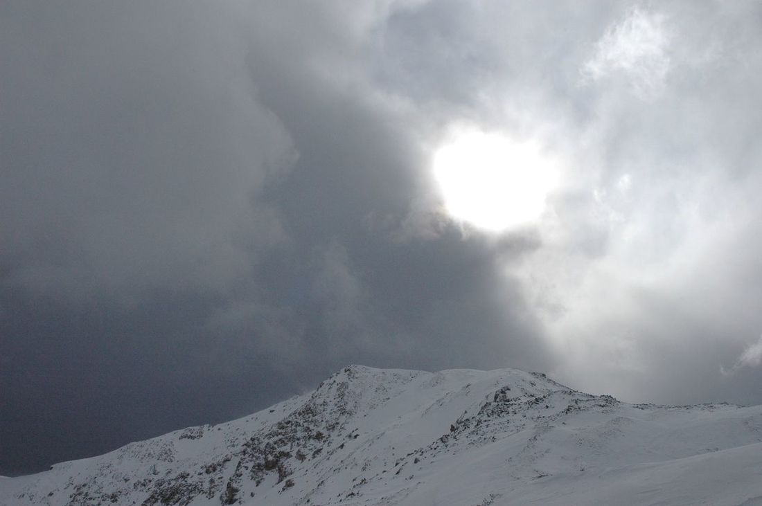 Breaking Through Clouds And Sky Colorado Continental Divide Gray Colors Loveland Pass Mountains And Sky Sun White Colors Winter
