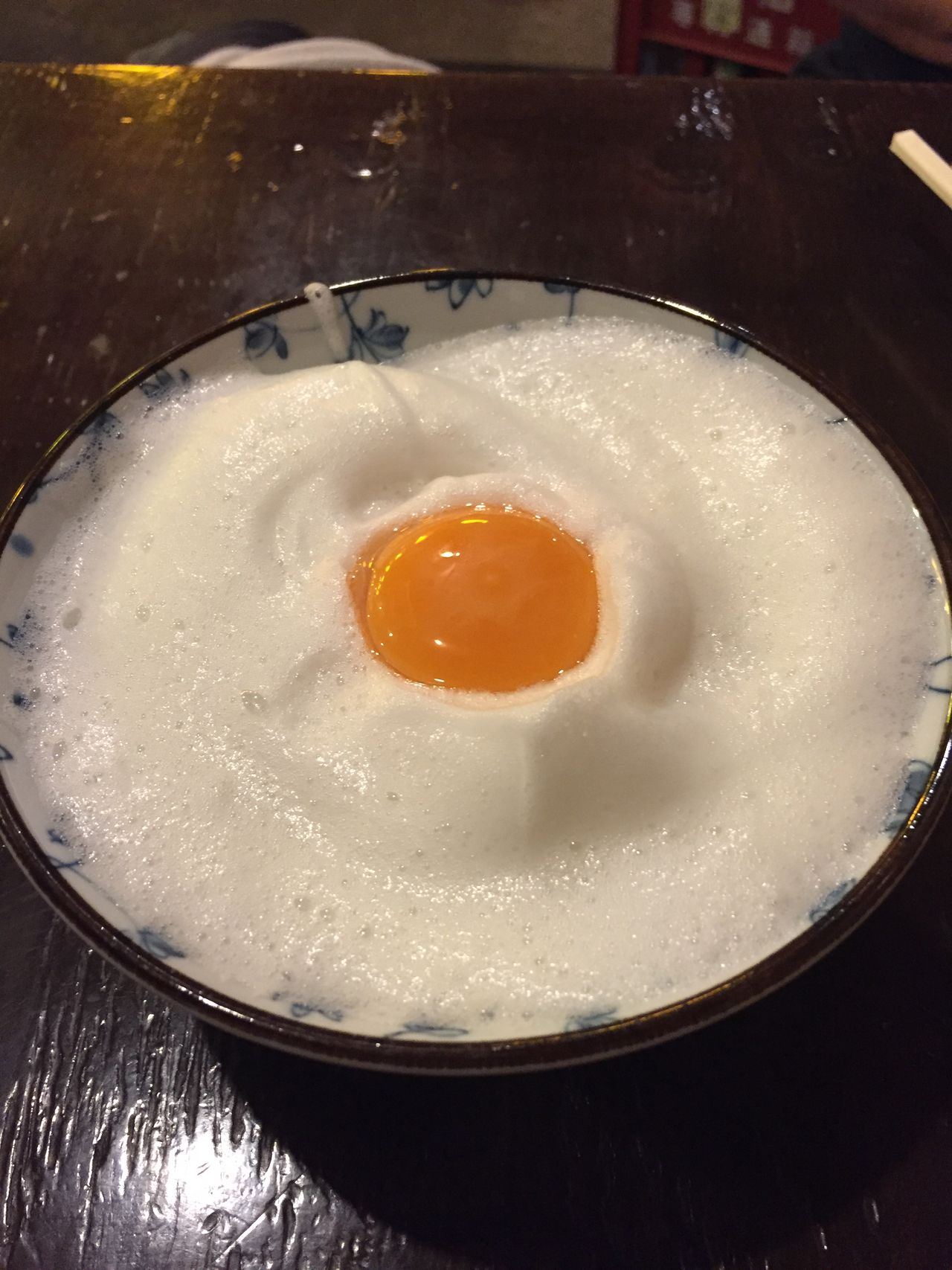 Bowl Close-up Day Egg Whites Egg Yolk Foamy Food Freshness Fried Egg Healthy Eating Indoors  Japanese Food No People Sunny Side Up Whipped Egg