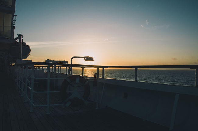 Blue Calm Cruise Cruise Ship Horizon Over Water Lifestyles No People Ocean Sea Sunny Sunset Sunset Silhouettes Tranquility Travel Traveling VSCO Water