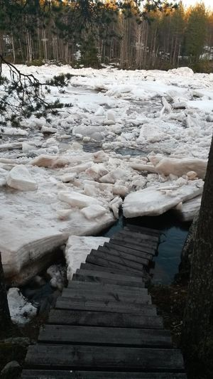 Stairs in the middle of a flood Finland Forces Of Nature Ice Lapland Nature Scandinavia Stairs Beauty In Nature Cold Temperature Crush Floes Flood Ice Run Nature Outdoors Scenics Snow Springtime Staircase Tranquil Scene Tranquility View From Above Water Water Flow Waterfront The Week On EyeEm EyeEmNewHere