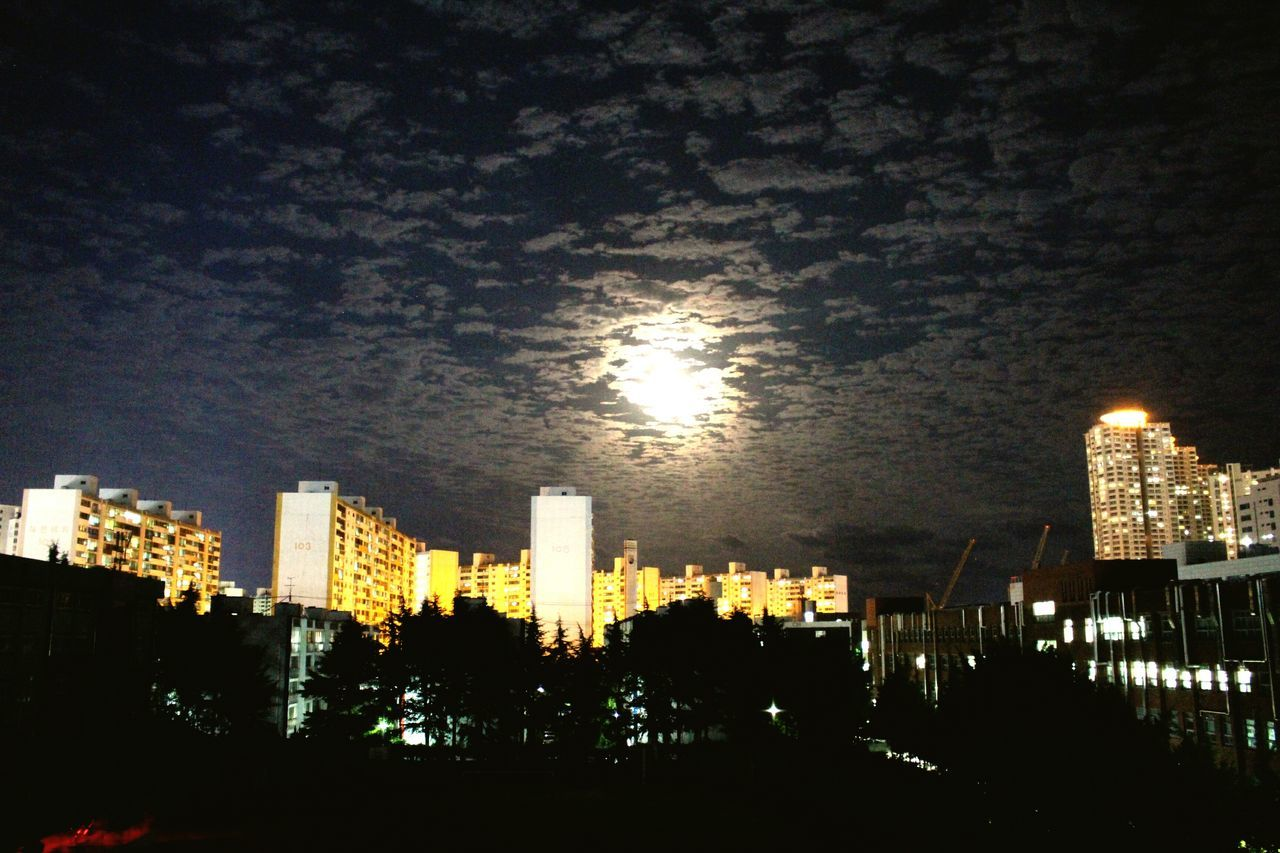 Moonshine Clauds And Sky Night View Sheep Clouds In Busan