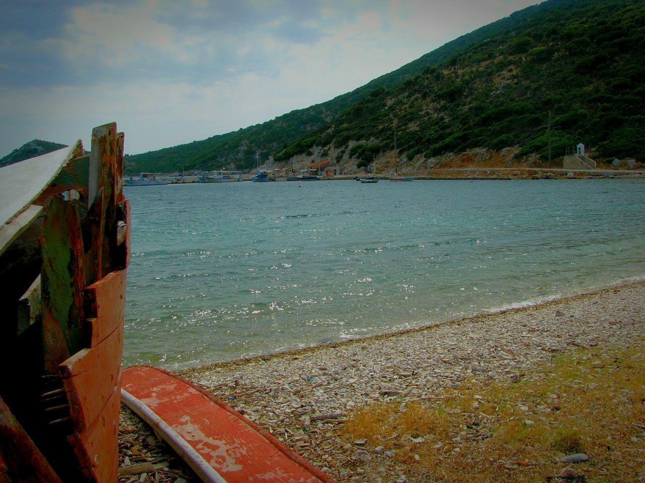 Boat Abandoned Trawler Old Destroyed Beach Beach Photography Life Is A Beach Red Boat Red Trawler Water Travel Destinations Nature Cloud - Sky Beauty In Nature Mountain Sea Wooden Pebble Pebble Beach Alonnisos Island Greek Islands Pebbles