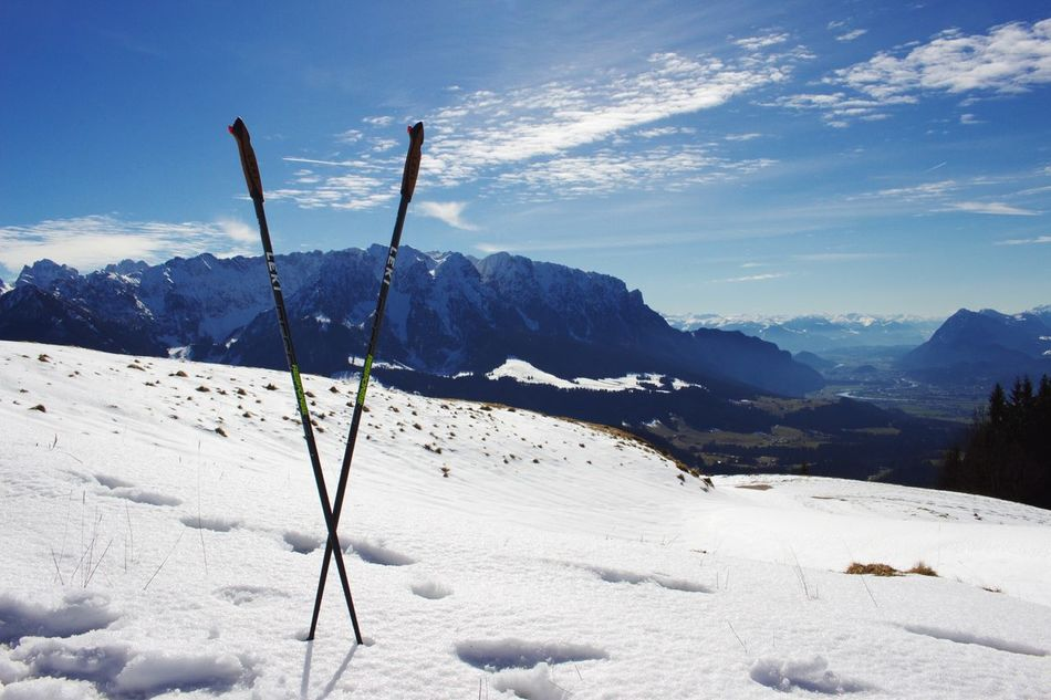 Hiking through the last pieces of Snow Winter Mountain Nature Beauty In Nature Cold Temperature Tranquility Tranquil Scene Sky Scenics Mountain Range Sunlight No People Outdoors Landscape Day Sports Skiing Walchsee Brennkopf