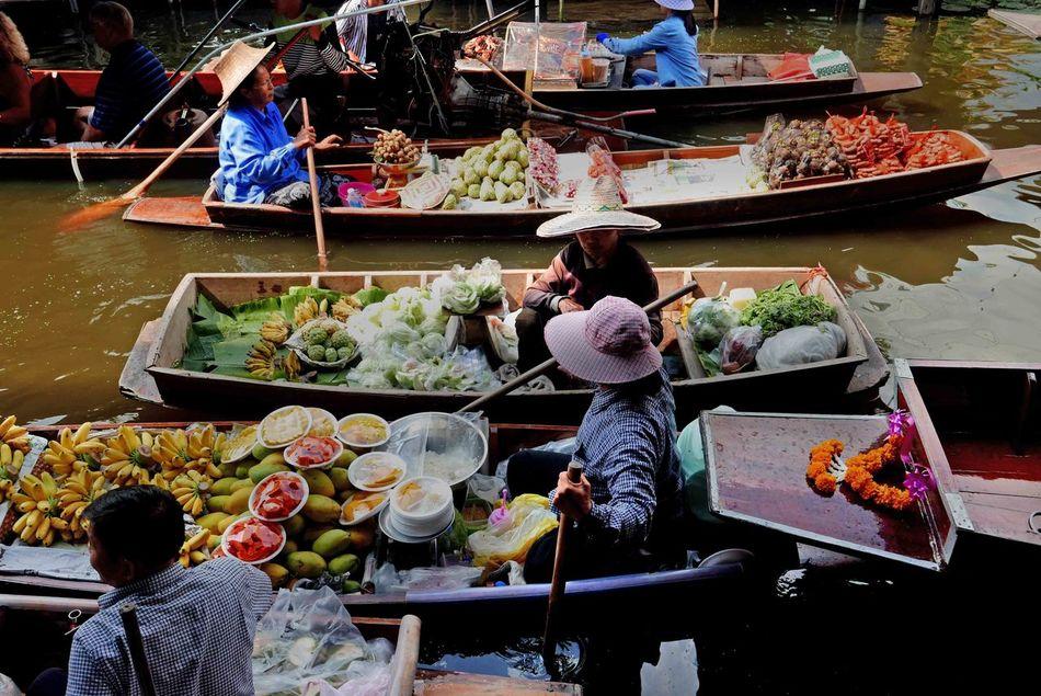 Floating Market Floating Market Dumnoen Saduak Food Food And Drink Outdoors Thailand Thailand Travel Women