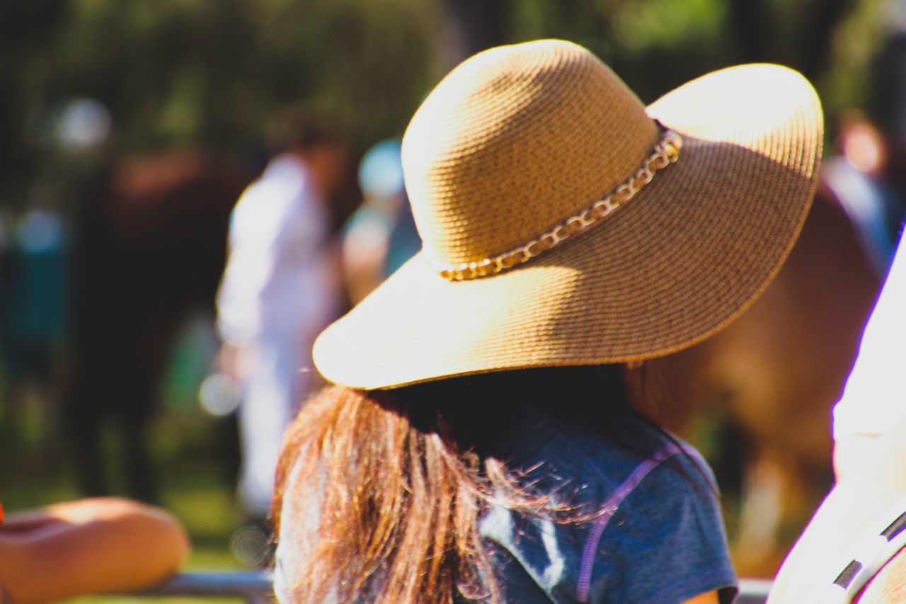 Close-up Day Focus On Foreground Hat Headshot Headwear One Person Outdoors Real People Rear View Sun Hat Women