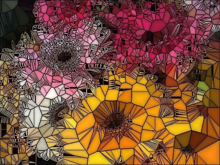 Daisies...stained glass style created by photo effects (taken in New Haven, CT, USA) Photo Art 📷🎨 Flower Power🌼 The Innovator