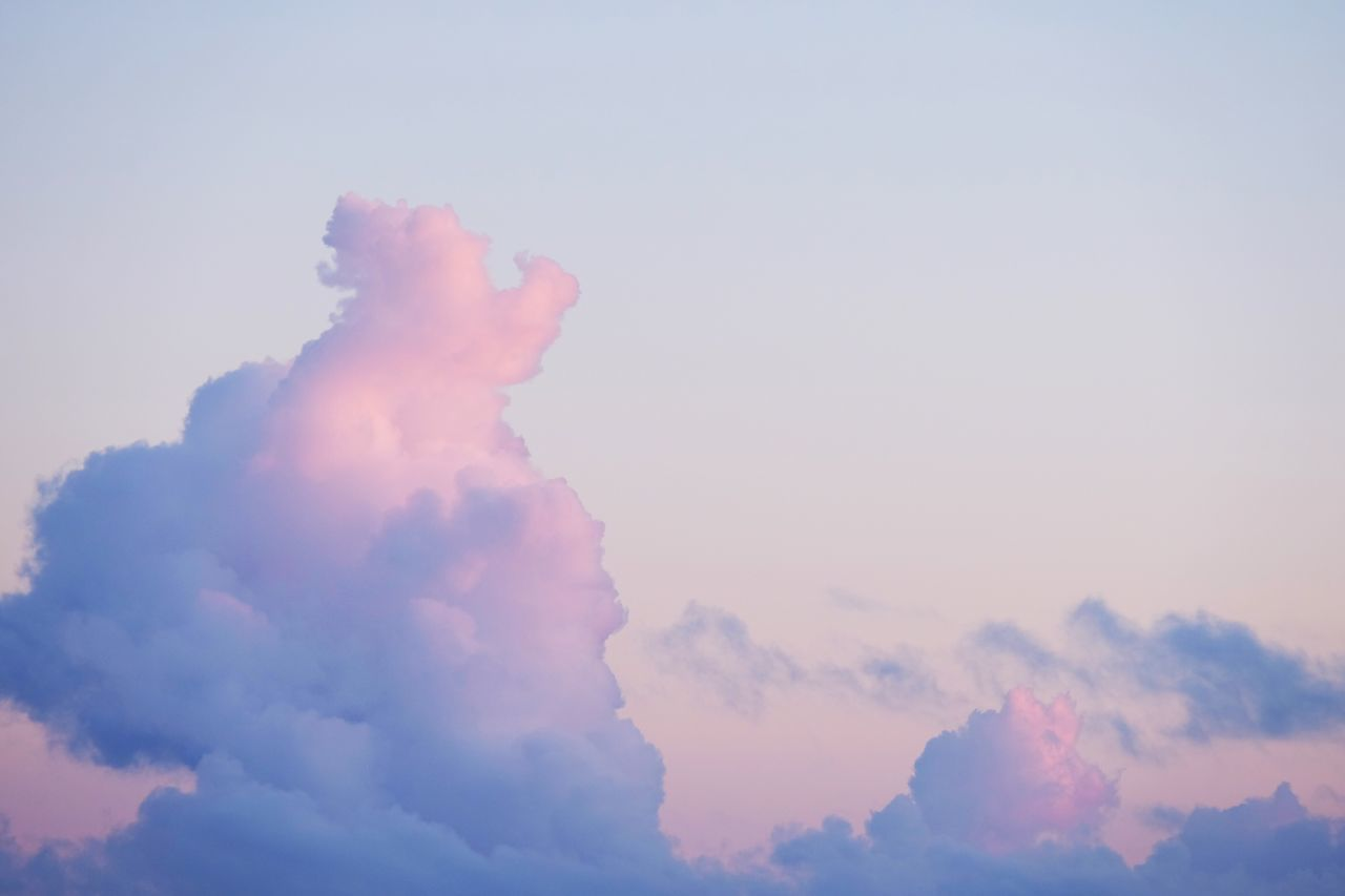 Sky Cloud - Sky Tranquility Low Angle View Nature Beauty In Nature No People Scenics Outdoors Day Sunset Pink Color Beautiful Nature Cloud Clouds And Sky Beautiful Check This Out Finding New Frontiers in Azores , Portugal MISSIONS: The Great Outdoors - 2017 EyeEm Awards