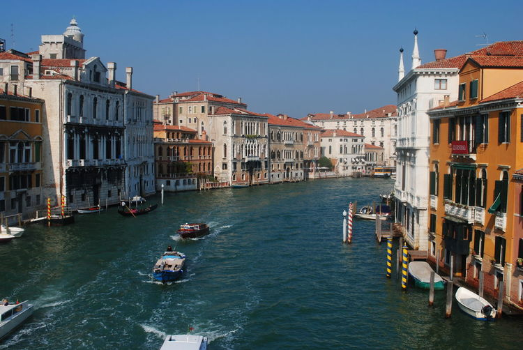 Accidents And Disasters Architecture Boats Bridge - Man Made Structure Canal City Cityscape Cultures Day Gondola - Traditional Boat Gondolier Nautical Vessel No People Outdoors September Sky Travel Destinations Venice Venice Canals Venice, Italy Water