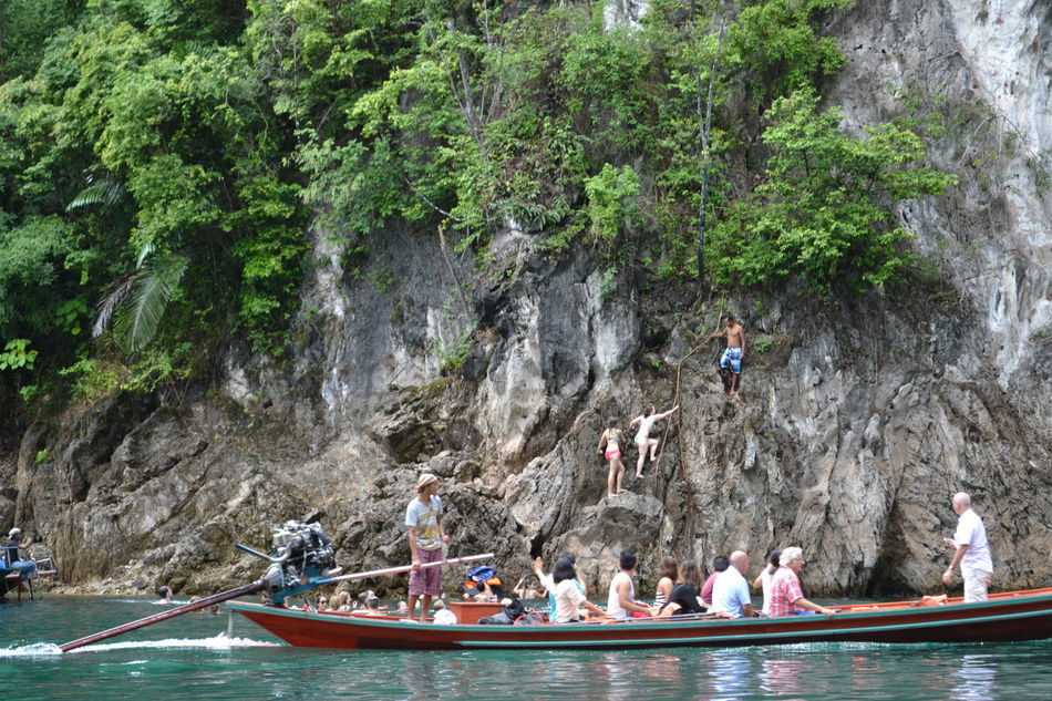 Water Large Group Of People Men Real People Outdoors Leisure Activity Transportation Nautical Vessel Day Adult Lifestyles Women Tree Beauty In Nature Travel Destinations Beauty In Nature Summer กุ้ยหลินเมืองไทย Lake Moutain Travel Relaxing Ratchaprapa Dam Relaxing Time