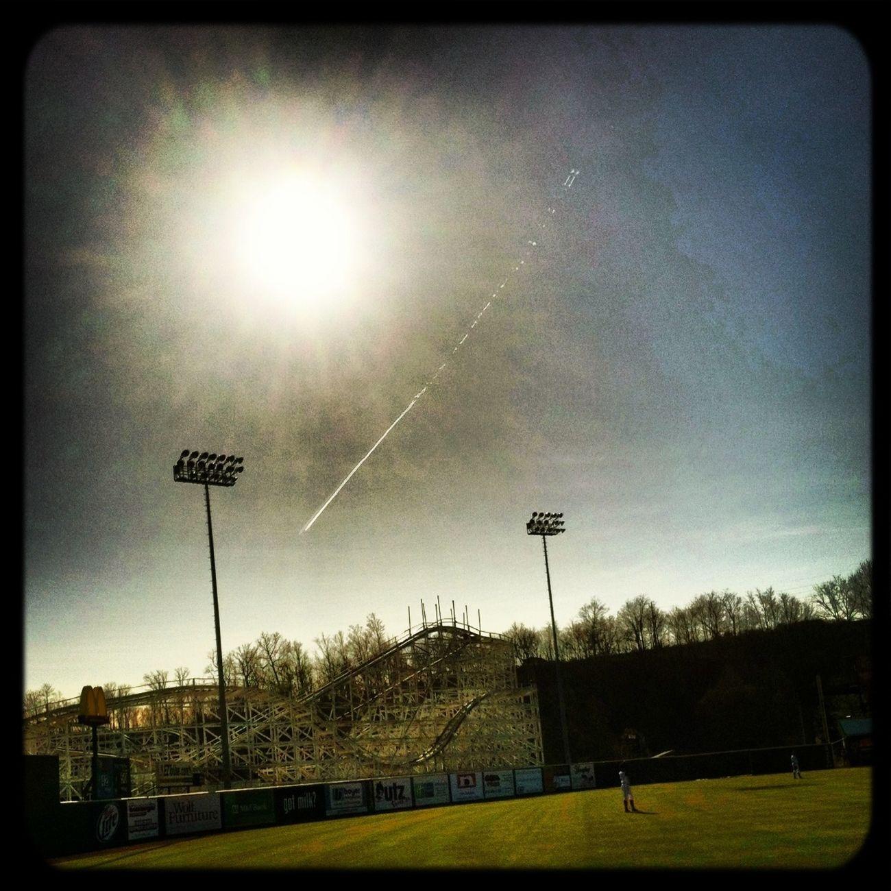 Sun Baseball Clouds And Sky Roller Coaster