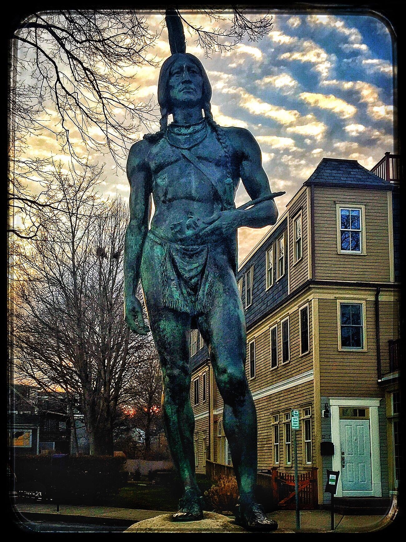 Massasoit Statue Plymouth Massachusetts Blue Massasoit Plymouth Rock Plymouth Massachusetts 1620 History Monument Memorial Native American Indian