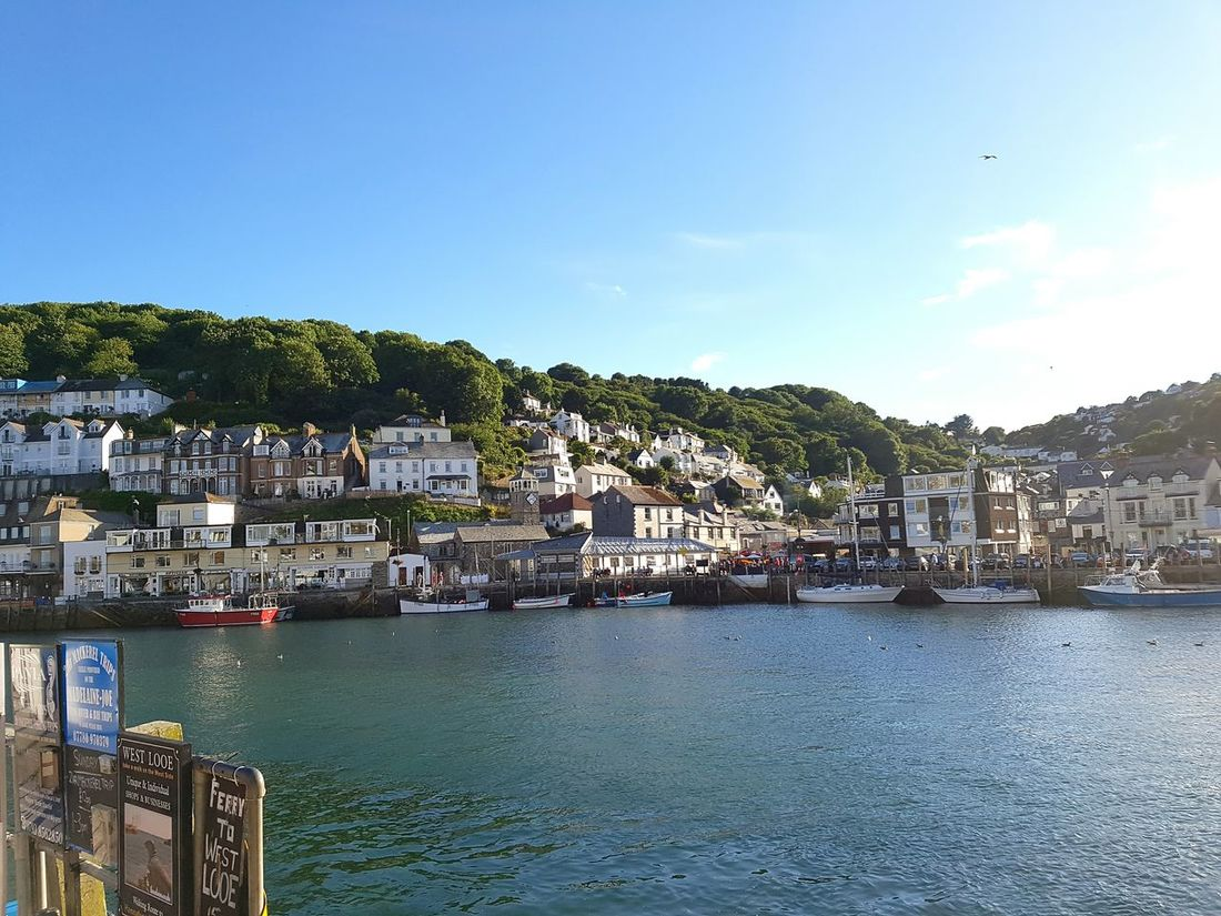 Seaside town Photography Sea Seatown Sea Scape Showcase July Nature Photography Buildings Hillside Hillside Town Water Sunny Day