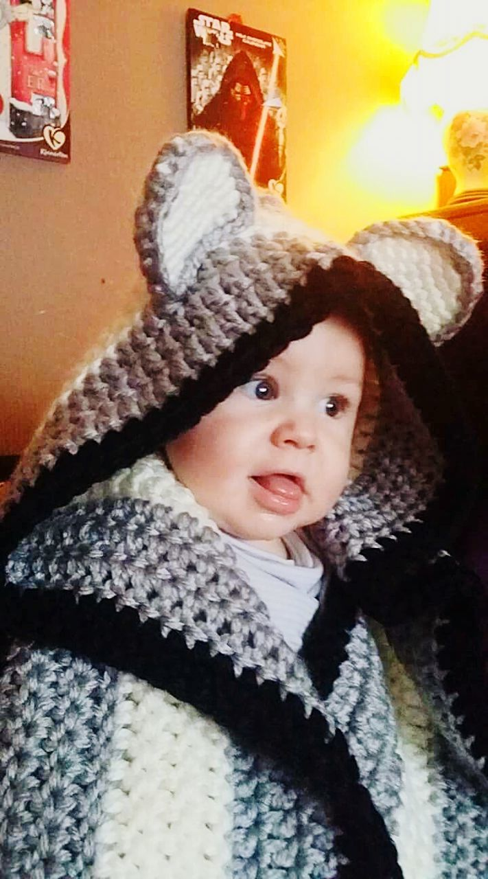 childhood, innocence, cute, one person, baby, knit hat, toddler, portrait, indoors, looking at camera, warm clothing, home interior, real people, babyhood, child, wool, babies only, close-up, day, people