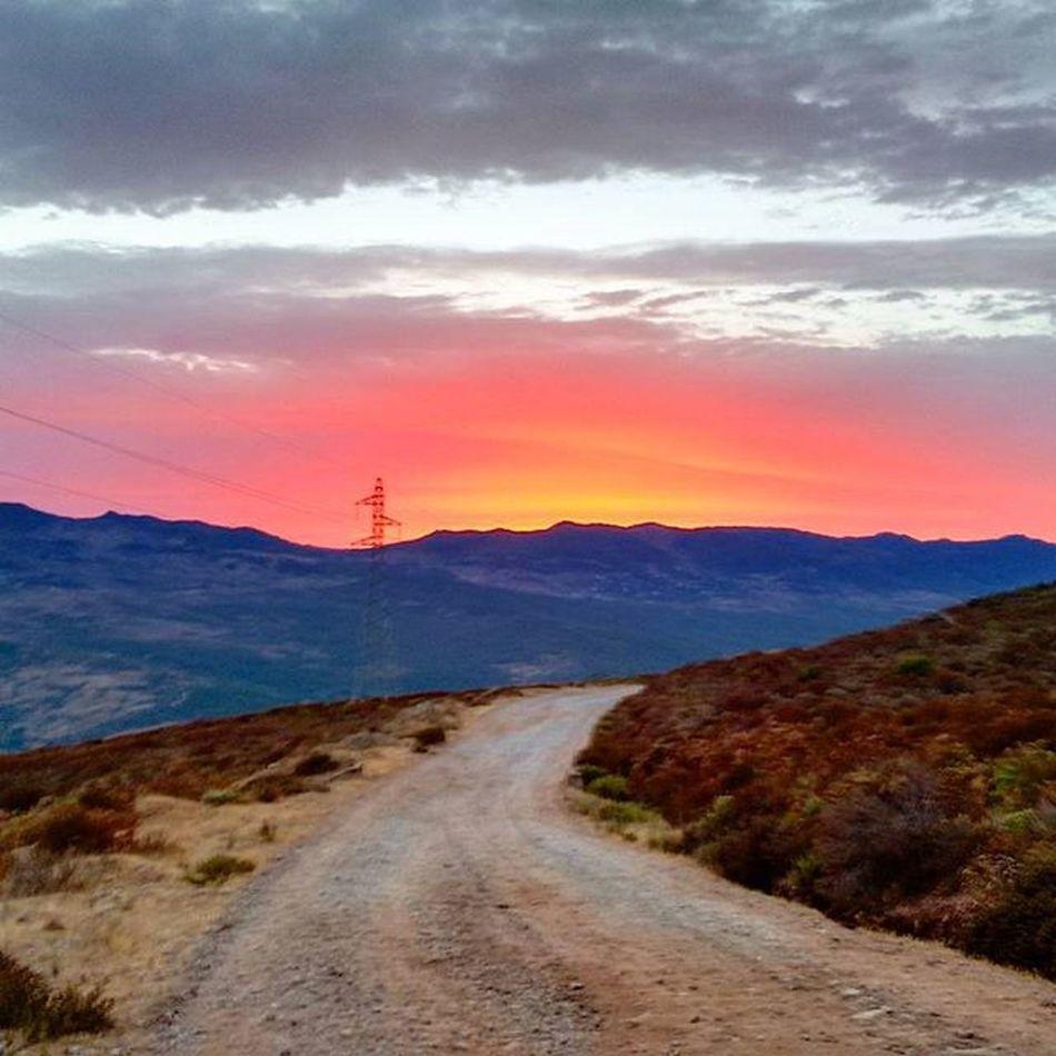 Amazing sunset today. Sunset Sunsetporn Moroccotraveltips Morocco mountain orange pink fotografia photooftheday photo photogrid