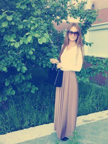 Photo Beautiful Summer Girl Beautiful Dress  Nature