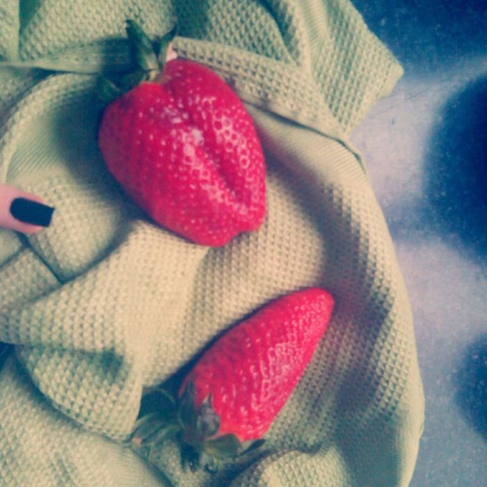 Eating big strawberries Strawberry Fruit Food That's Me