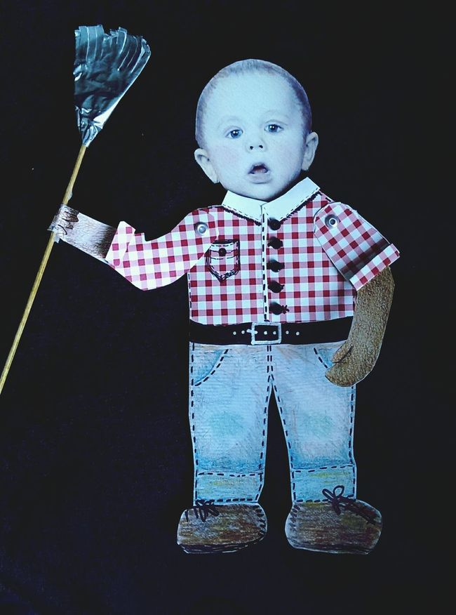 Getting Creative Made a paper doll of my grandson. Making Paper Dolls! Farmer Boy Checkered Shirt Blue Jeans Mirrorless Paper View