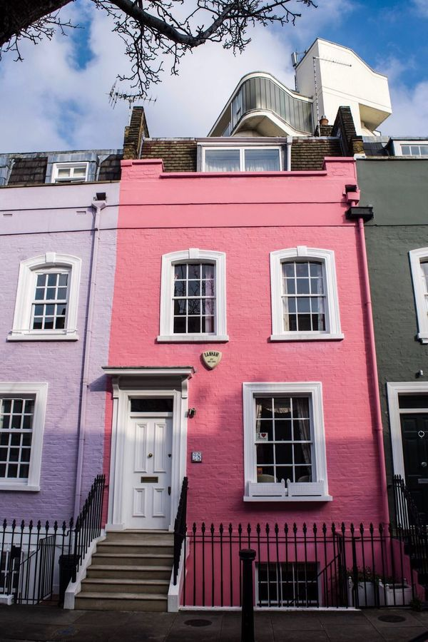 Houses of Chelsea 🇬🇧 Window Building Exterior Architecture Pink Color Outdoors Built Structure City Day No People Sky LONDON❤ London Lifestyle London Chelsea