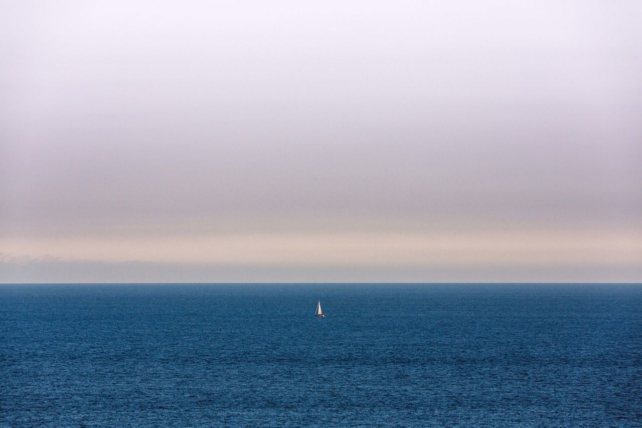 Monaco Horizon Over Water Water Sea Scenics Tranquil Scene Seascape Tranquility Waterfront Beauty In Nature Blue Sky Idyllic Calm Outdoors Non-urban Scene Distant Minimalism Minimalobsession Minimalistic Sailing Sailboat Voilier